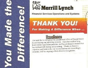 Merrill Lynch Award
